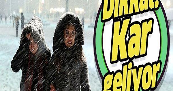 Meteorolojiden son dakika kar yağışı uyarısı!