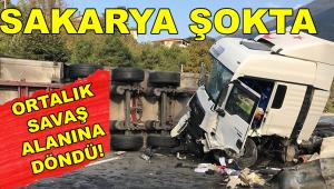 Sakarya'da Feci Kaza! 8 Kişi...