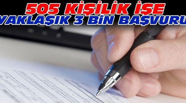 505 kişilik iş için 2 bin 731 başvuru yapıldı