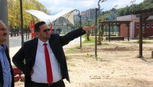 Akçakoco'da Aguapark için çalışma başlattı