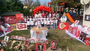 Minik öğrencilerden Cumhuriyet Bayramı kutlaması