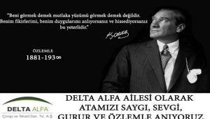 Delta Alfa'den 10 Kasım mesajı