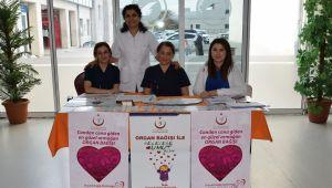 Organ ve doku bağışı farkındalık standı kuruldu