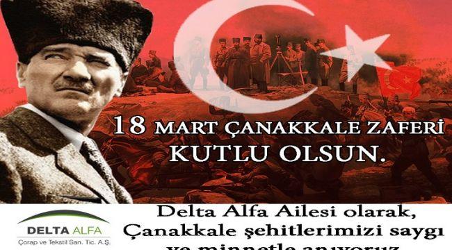 Delta Alfa 18 Mart Çanakkale Zaferi'nin 105. yıl dönümünü kutladı