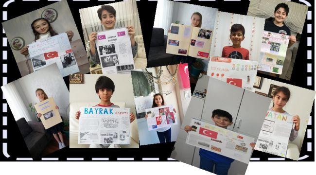 Çocuklardan 100. yıl özel gazetesi