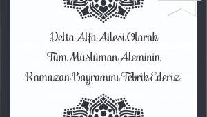 Delta Alfa Ramazan Bayramını Kutladı