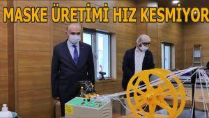 Maske üretimi hızlandırıldı