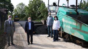 Musababa köyünde ki asfaltlama çalışmaları sürüyor
