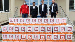 Kaynaşlı Belediyesi'ne 500 gıda kolisi bağışlandı