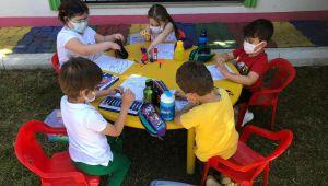 Okul dışarıda gününde eğlendiler