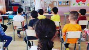 Minik öğrencilere afet farkındalık eğitimi verildi