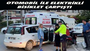 Otomobil İle Elektrikli Bisiklet Çarpıştı, 1 Kişi Yaralandı