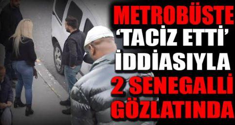 Metrobüste t-a-ciz iddiasının görüntüleri!